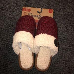 Memory foam dearform women slippers size7-8